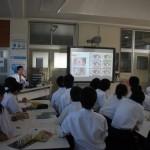 保健授業「目のはたらき」 in 安乎中学校