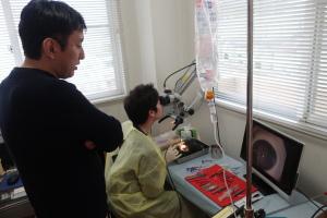 白内障手術・プレカット実習